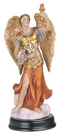 "Archangels 5.5"" Statues with Wood Base Exquisite Detail Hand Painted"