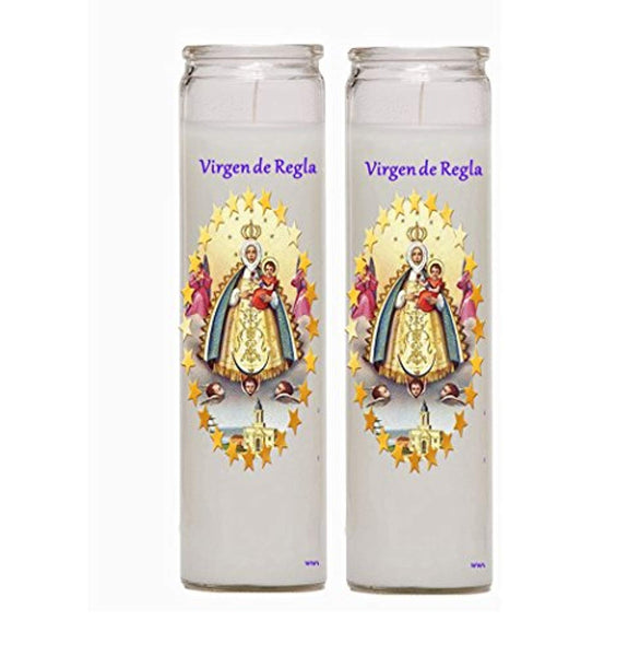 Virgen de Regla Velas Set of Two or 4 Candles Veladoras Set de 2 o 4 Velas (2)