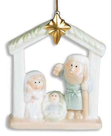 Holy Family Baby Jesus and Star Nativity Christmas Tree Ornament