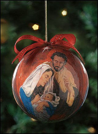 Nativity Scene Holy Family Tidings of Great Joy Ornament Christmas Tree Ornament