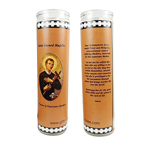 Saint Gerard Majella Patron of Expectant Mothers Set of 2 Candles