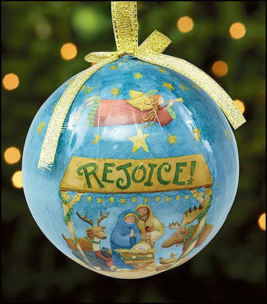 Rejoice Nativity Scene Christmas Tree Ornament