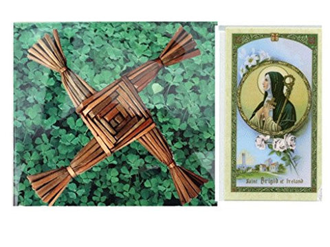 Saint Saint Brigit of Kildare or Briget of Ireland Cross Tile for Wall Desk Mantel (6 x 6)