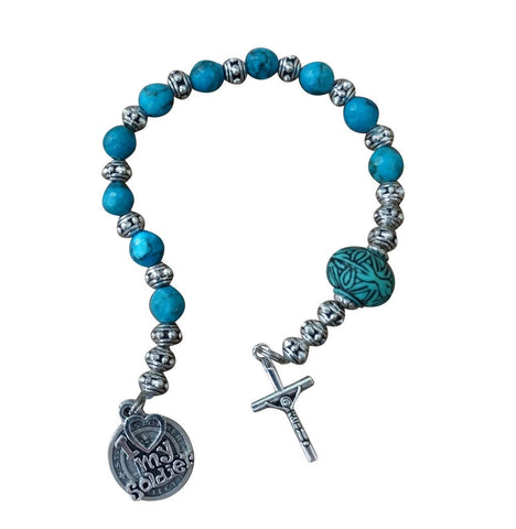 Military Chaplet in Honor of The Men and Women Serving Their Country Available in Four Styles and Includes a Blessed Prayer Card (AIR Force)