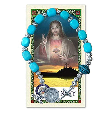 Navy Military Chaplet in Honor of The Men and Women Serving Includes a Blessed Prayer Card