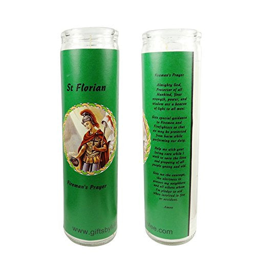 Saint Florian Patron of Firefighters Set of 2 Candles