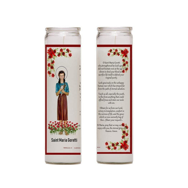 Saint Maria Goretti Patron of Victims of Rape, Crime, and Teenage Girls Set of 2 or 4 Candles (FOUR)