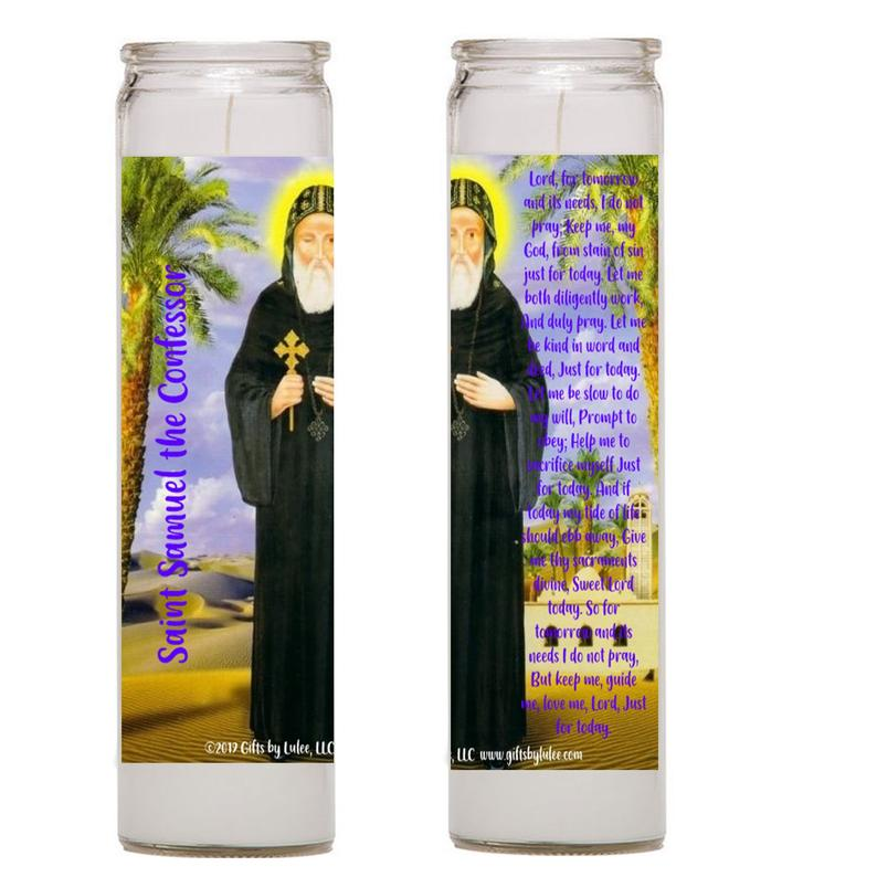 Saint Samuel the Confessor Set of 2 or 4 candles  Coptic Orthodox saint