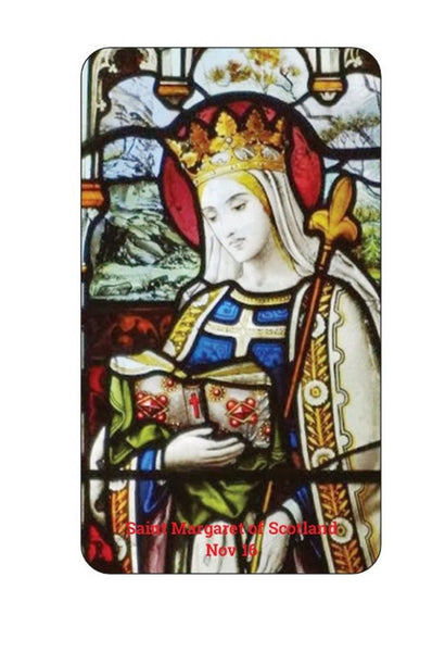 Saint Margaret of Scotland The Pearl of Scotland Patron of Scotland Laminated Prayer Card Imported from Italy                Buy together, get free shipping