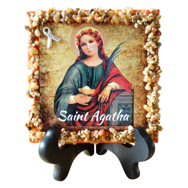Saint Agatha Plaque Patron Saint of Breast Cancer Several Sizes  T-205