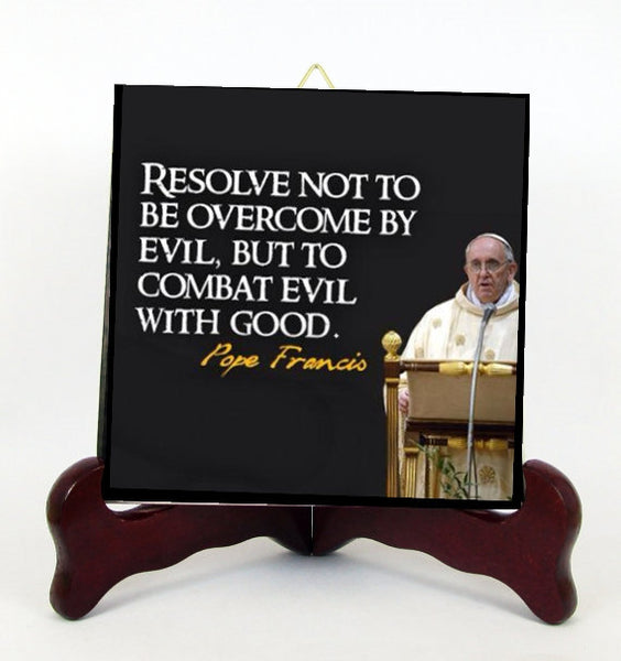 Pope Francis Pope of the People Contemporary Style Porcelain Tile Plaque Ready for Hanging T306+hc109
