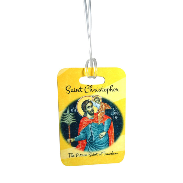 Saint Christopher Patron Saint of Travelers  Tags for your luggage car  backpack laptop bicycle anyplace you want