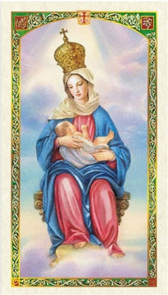 Our Lady of La Leche Nuestra Senora de La Leche Contemporary Style Porcelain Plaque for Hanging Interior or Exterior Blessed Prayer Card 6x6
