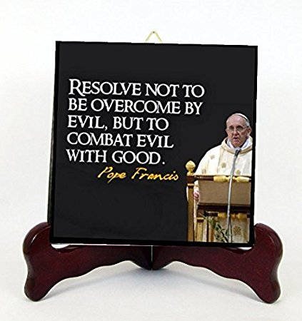Pope Francis Pope of the People Contemporary Porcelain Plaque for Hanging Interior Exterior A