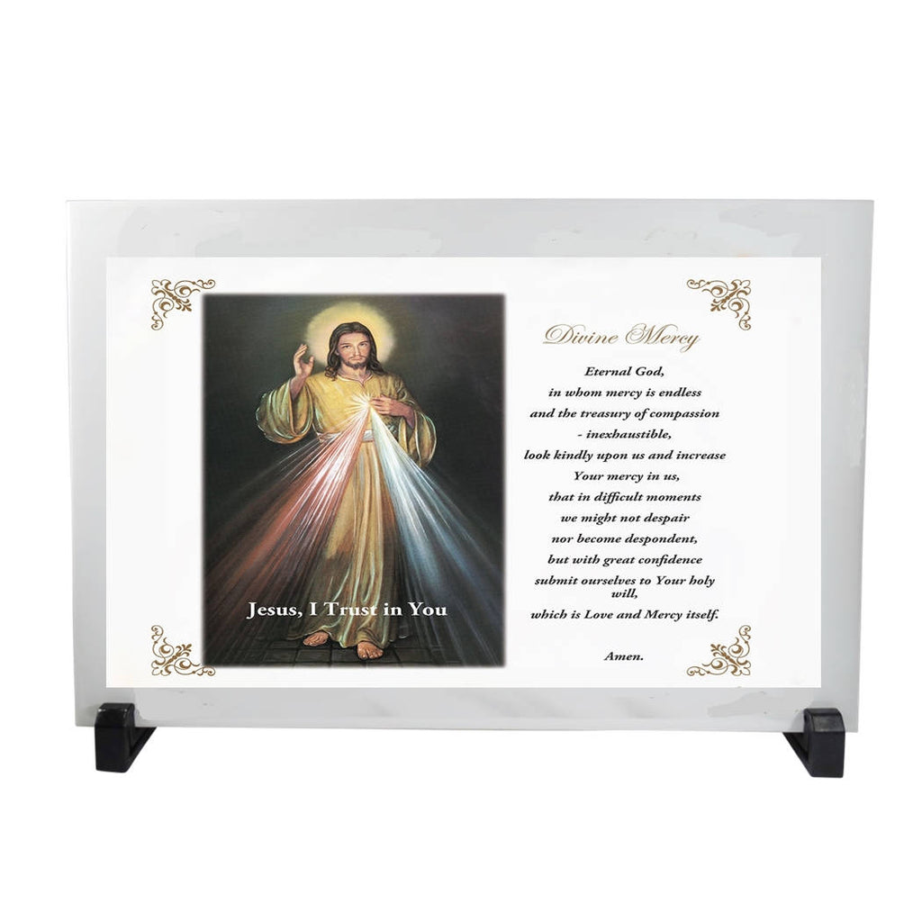 Divine Mercy La Divina Misericordia  Altar Plaque 12 x 8  inches 100% Hand Made English or Spanish