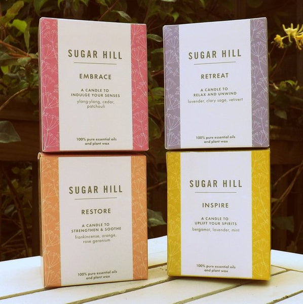 Sugar Hill boxed candle range
