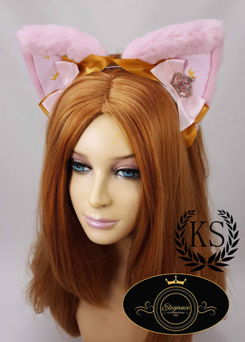 Pink Crowned Elegance Ears