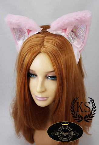 Pink Jeweled Elegance Ears