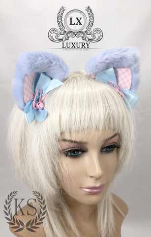 Baby Blue Luxury Earsc