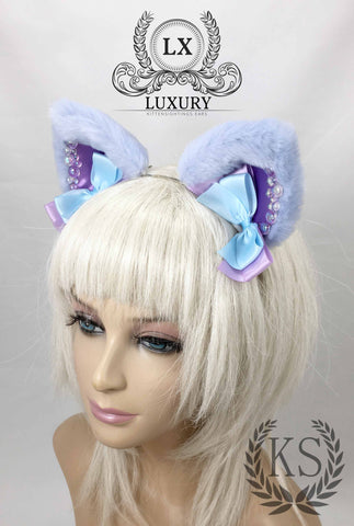 Light Blue Bubbles Luxury Ears