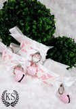 White and Pink Baroque Thick Collar and Cuff Set