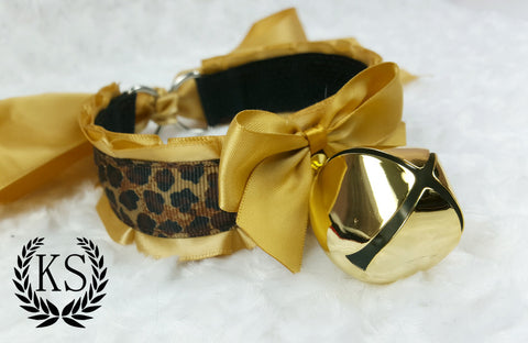 Gold Leopard Thick Collar