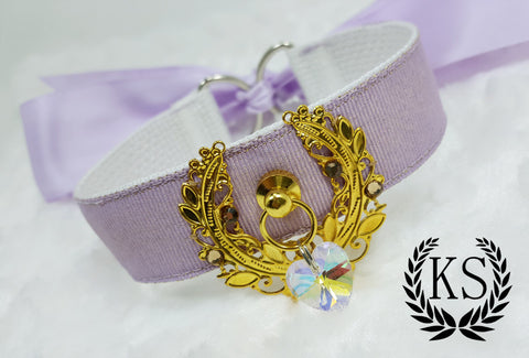 Lavender Ruffleless Golden Reef Thick Collar