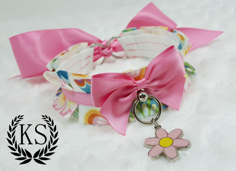 Butterfly Flower Thick Little's Collar