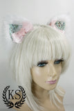 White Unicorn Pink Heart Bow Lavish Ears