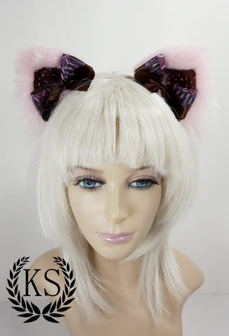 Pink Candied Magnetic Bow Lavish Ears