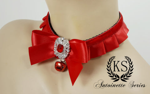 Red Jeweled Antoinette Collar