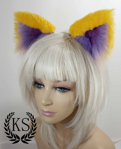 Yellow and Lavender Realistic Elegance Ear