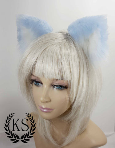 Light Blue and White Realistic Lavish Ears