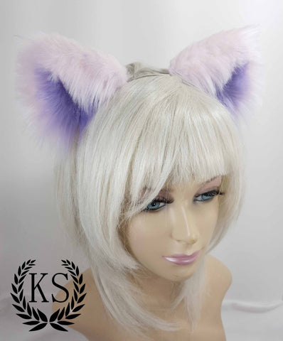 Pink and Purple Pastel Realistic Lavish Ears