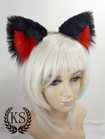 Black and Red Realistic Lavish Ears