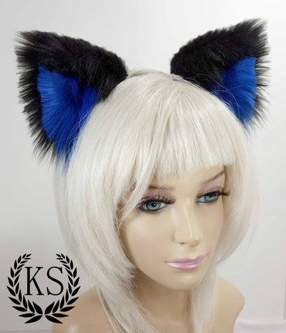 Black and Blue Lavish Ears
