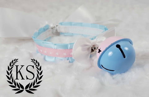 Baby Blue Rattle Skinny Kitty Collar