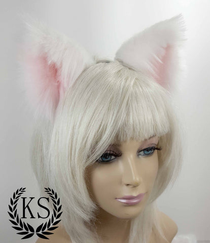 White and Light Pink Elegance Ears