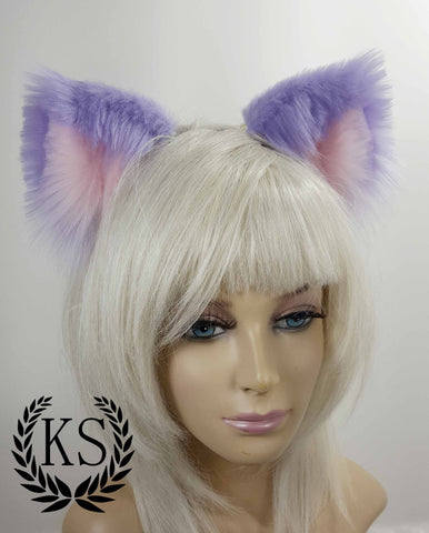 Lavender and Light Pink Lavish Ears