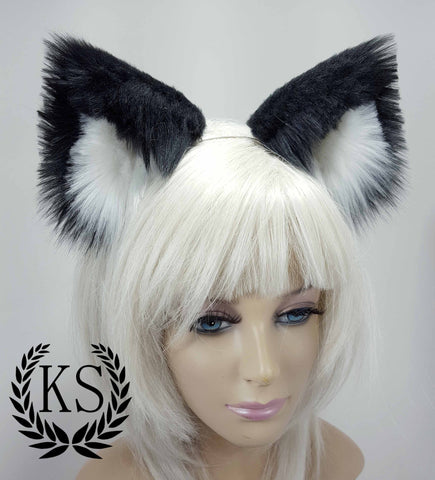 Black and White Elegance Ears