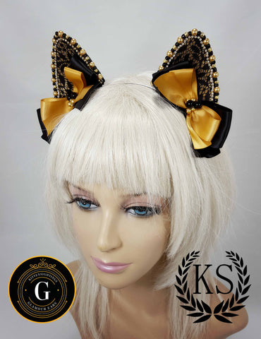 Gold and Black Glamour Ears
