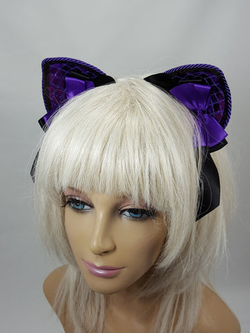 Purple Brilliance Furless Princess Ears
