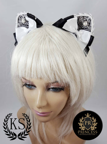 Baroque Pearl Furless Patterned Princess Ears