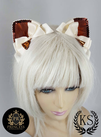 Brown Belled Furless Patterned Princess Ears