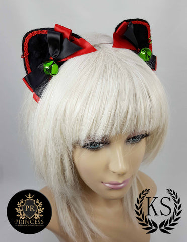 Cherry Pie Furless Patterned Princess Ears