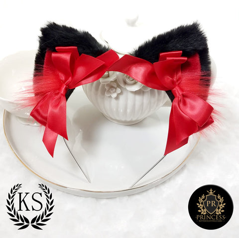 Black and Red Pixie Princess Ears