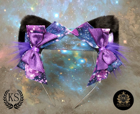 Purple Galaxy Pixie Princess Ears