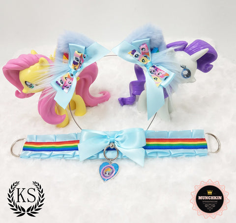 Rainbow Dash Inspired Munchkin Ear Set