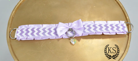 Lavender Chevron Thick Collar