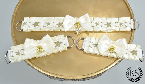 Golden Star Thick Collar and Cuff Set
